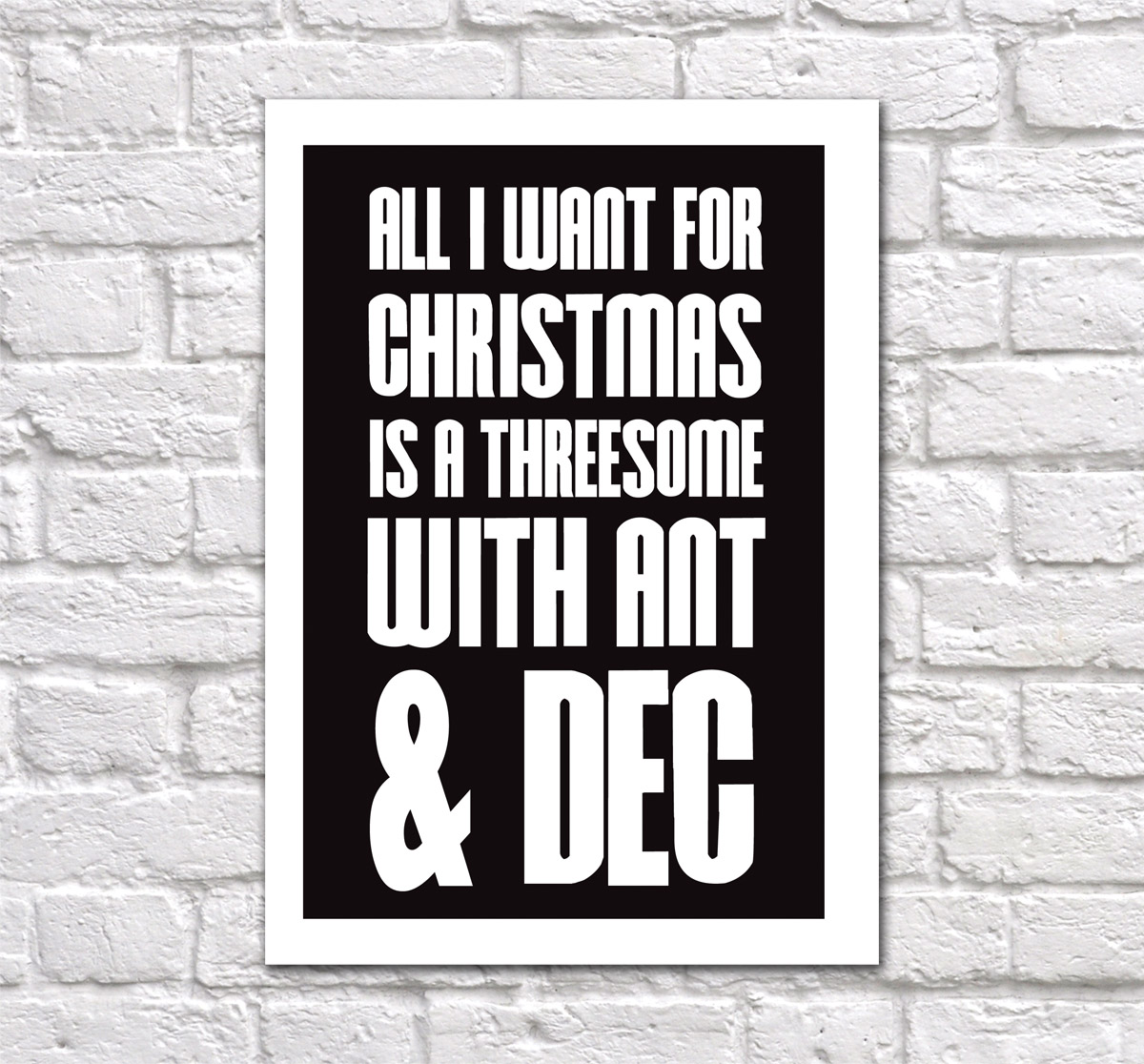 All I Want For Christmas Is A Threesome With Ant & Dec | Mostly ...